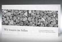 Trauerkarten / Zu einem würdevollen Abschied gehören hochwertige Trauerdrucksachen, die der Erinnerung an den Verstorbenen gerecht werden – Texte, Bildmotive und Papierqualität sind hier von entscheidender Bedeutung.  / by Memento Trauerkarten