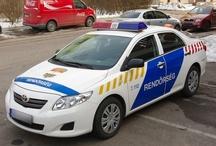 Hungary police cars