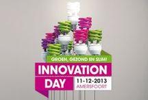 Innovation Day 2013 / woensdag 11 december 2013 - De Nieuwe Stad, Amersfoort - Likeable Design zorgde voor de 'look and feel' van deze innoverende dag! Bij elkaar gepinde beelden van de diverse sociale media #IDay13