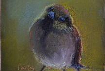 Birds / Pastel Paintings