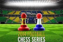 2014 Football Chess Series / Inhakers bij het Wereldkampioenschap Voetbal 2014 voor een website over schaken