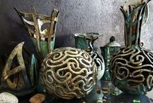 Raku Pottery / A beautiful collection of my raku pottery and steps of my work