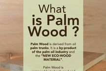 Palm Wood / The trunks of felled oil palm trees are processed to produce palm wood.