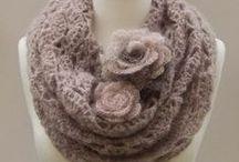 Szydełkiem: szale, chusty, opaski /Crochet: shawls, scarves, headbands