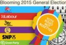 General Election 2015 / Bouquets that represent some of the main parties participating in the General Election 2015