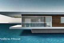 Architektúra / Moderná architektúra, interiér, dizajn, moderné bývanie.