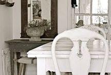 Shabby Chic: jadalnia / Schabby Chic dining room