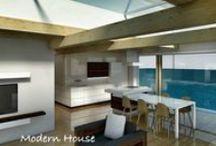 Moderný interiér / Moderný interiér, architektúra bývania, dizajn.