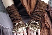 Szydełkiem: rękawiczki, mitenki, getry / Crochet: gloves, mittens, cuffs