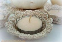 Szydełkiem: świeczniki / Crochet: candlesticks