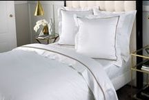 Hotel Luxury Bedding / Leading Australian interior stylist Steve Cordony shows us how to transform your home with hotel inspired luxury. It begins with luxe layering and 1200 thread count sheeting. Create an elegant, indulgent space with soft, feminine furnishings or create strong lines with geometrics for a more gender neutral hotel luxury look. As with everything, it is the detail that counts; finish the look by updating your bathroom with luxurious towels.