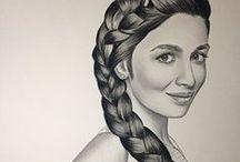 eskişehir karakalem portre