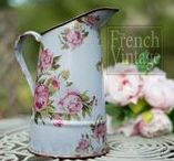 The French Vintage Company - Jane Kelly Designs / An album dedicated to my up-cycled French vintage enamelware. A selection of water carriers, jugs and 'Biggin' style coffee pots.