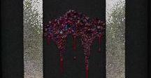 Crépuscule 78 x 96 cm (mosaïque) / Marie-Laure Bourbon Mosaïque