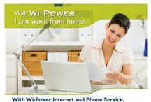 Get Wi-Power! / Do you live in our Wi-Power service area? Looking for new fast, affordable and reliable Internet service? Give us a call!