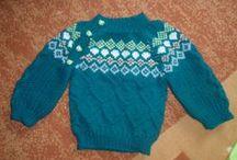 pletení / ručně pletené svetříky 0-3roky