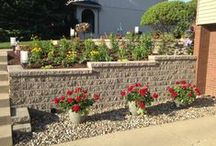 Retaining walls / This board has multiple types of walls, including block walls, Boulder or stone walls and timber walls.