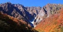 """本州 """"Japan Alps"""" / 北、中央、南アルプスと八ヶ岳、谷川岳のPinを集めました。谷川岳が、めっちゃ遠いのですがw  素晴らしい山なので思わず入れちゃいましたw"""