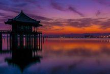 """本州 """"Biwako"""" / 近江八幡はお気に入りの町です。琵琶湖も海津大崎の桜とかヤバいですよ。竹生島は、わたくし的には、あまり楽しめませんでした。"""