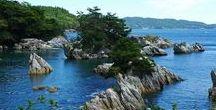 """本州 """"Sanriku"""" / 三陸海岸です。日本最長のリアス式海岸ですね。リアス式って地盤が隆起して出来たんでしたっけ?沈下したんでしたっけ?"""