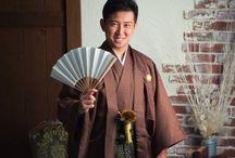 """着物 """"Haori"""" / 羽織袴です。紋(黒紋付)が入れば第一礼装になりますね。成人式やお正月、結婚式などには欠かせない和装です。"""