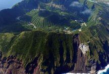 """離島 """"Izu-Shichitou"""" / 伊豆大島、利島、新島、神津島、三宅島、御蔵島、八丈島とその周辺の島々の総称です。(何故か東京都なんですがw)"""
