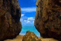 """離島 """"Ryukyu"""" / 沖縄県です。沖縄県内の島が対象です。海はやっぱり沖縄ですねぇ。ゴーヤチャンプルー大好きです。沖縄料理、本当に旨いですよね。ソーキそばも好きだった。そういえばw"""