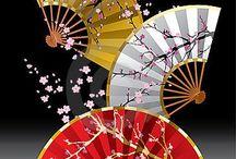 """着物 """"Sensu/Uchiwa"""" / 扇子、団扇です。夏の必須アイテムですね。"""