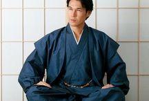 """着物 """"Samue/Jinbei"""" / 作務衣、甚平です。着物じゃないですけど、それ言ったら、他の和装小物もそうなるんで、着物カテゴリに入れます。言ったら、狩衣、直垂、裃、十二単も装束ですし。"""