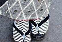 """着物 """"Tabi/Jika-Tabi"""" / 地下足袋っちゃ靴なのか? 靴下なのか? 靴でも靴下でも有りません。地下足袋ですw 地下足袋、履いた事、有りません。歩きやすそうですけどねぇ。"""