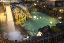 Japanese Hot Spa 温泉 / 日本列島のいたる所に数えきれない程の温泉が湧き出て、流石、温泉大国といった感じです。寺や神社同様、数が多すぎて全部挙げるのは、無理ですw 野趣溢れる露天風呂とかいいですね。で、上げ膳据え膳で、部屋でゴロゴロ。朝のひとっ風呂。至福の瞬間ですね。