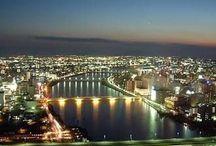 City Scape of Big City / 新潟市、相模原市、静岡市、浜松市、堺市、岡山市、熊本市の街並みです。