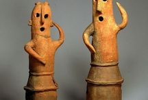 Haniwa/Dogu/Doki 埴輪/土偶/土器 / ハニワ可愛い過ぎません?あのポージングといい表情といい、ヤバ過ぎます。土偶は、創造的すぎて凄いです。縄文、弥生の時代にこれだけの芸術性は、とても素晴らしいですね。