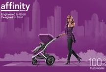 Affinity Stroller / High fashion meets high function in the Affinity Stroller by Britax. This refined, innovative design combines exceptional comfort and durability with thoughtful details and sophisticated styling that can be customized to reflect your personal taste as a new parent. Learn more at http://www.britaxusa.com/affinity.