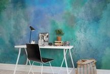 Watercolor Decor / Watercolor themes, colors, and inspirations in home, office and studio decor