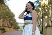 "JUNAROSE style insider // Nautical / Isabell from dressingoutsidethebox.blogspot.dk has made a Style Edit with her favorite Junarose Styles. She is inspired by ""Nautical"" and in love blue and white items and red details!"