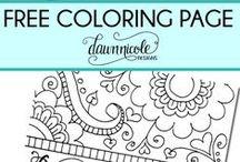 vybarvování coloring / vybarvování, relaxace, mandaly