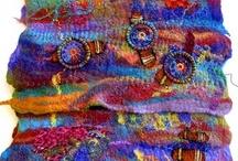 Felted wool, recycled wool / by Joyce Ketner