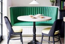 A Breakfast Nook / inspiration for a breakfast table, sunday morning style.