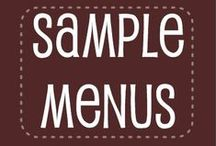 Food for Me: Menus and Ideas