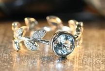 Leaf and flower style rings / Nature inspired engagement rings