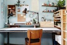Office studio inspiration / Workspaces that inspire and delight. Offices, study nooks, art studios and more / by The Penny Drops