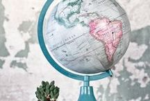 Around the World / Maps and Globes can be a fun way to see the world that we live on.