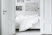 White / White - crisp and clean with a splash of color here and there.
