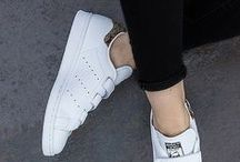 Crisp White Kicks / To channel that understated chic look keep your trainers crisp, clean and white. It's a no-brainer.