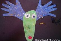 Christmas Arts & Crafts for Kids / by KinderArt.com