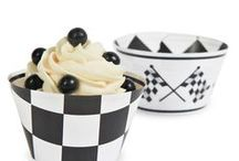 Racing Car Party / Calling all car racing fanatics!   Party Kit 'n Kaboodle has a terrific range of car racing themed decorations, cool black and white check tableware, race car driver loot bags and more!  Not only do we make finding your racing car party supplies easy, we make it fun!