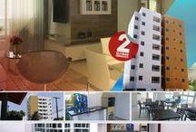 Bancários - Apartamentos 2 & 3 Quartos 59 e 71 m² / Apartamentos novos, prontos, 2 e 3 quartos sendo 1 suíte, com elevador, no Bairro dos Bancários em João Pessoa, PB.