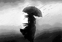 Rain / Beautiful rain themed photographs, illustrations and poems.