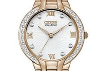 Citizen Loves Rose Gold! / Trendy and stylish, rose gold tone is in and Citizen watch has the trend right here.
